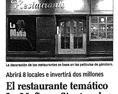 Captura de pantalla 2017 05 10 a las 19.07.50 400x320 - Expansión - «El restaurante temático La Mafia se sienta a la mesa sale de Zaragoza» |Marzo 2003