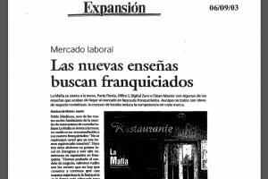 Expansión – «Las nuevas enseñas buscan franquiciados» |Junio 2003