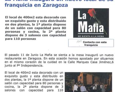 Captura de pantalla 2017 05 10 a las 19.21.25 400x320 - Franquicias al Día - «La Mafia inaugura un nuevo local de su franquicia en Zaragoza» |Julio 2009