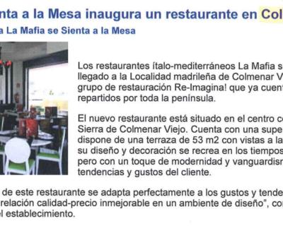 Captura de pantalla 2017 05 10 a las 19.23.23 400x320 - Franquicias Hoy - «La Mafia se sienta a la mesa inaugura un restaurante en Colmenar Viejo» |Septiembre 2009