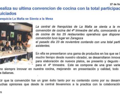 Captura de pantalla 2017 05 10 a las 19.29.11 400x320 - Franquicias Hoy - «La Mafia realiza su última convención de cocina» |Noviembre 2009