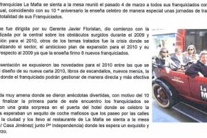 Franquicias TV – «La Mafia celebra su 10º aniversario» |Marzo 2010