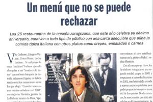 Heraldo de Aragón – «Un menú que no se puede rechazar» |Abril 2010