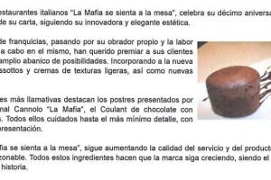 100 Franquicias – «La Mafia renueva sus platos y el diseño de su carta» |Junio 2010