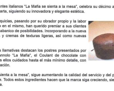 Captura de pantalla 2017 05 10 a las 19.42.22 400x320 - 100 Franquicias - «La Mafia renueva sus platos y el diseño de su carta» |Junio 2010