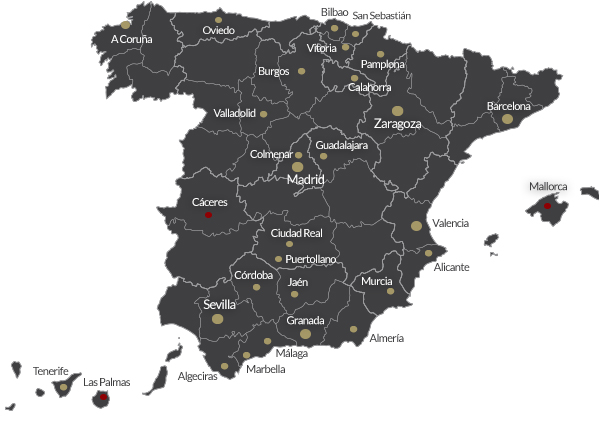 mapa restaurantes NUEVASAPERTURAS - Nuestros restaurantes