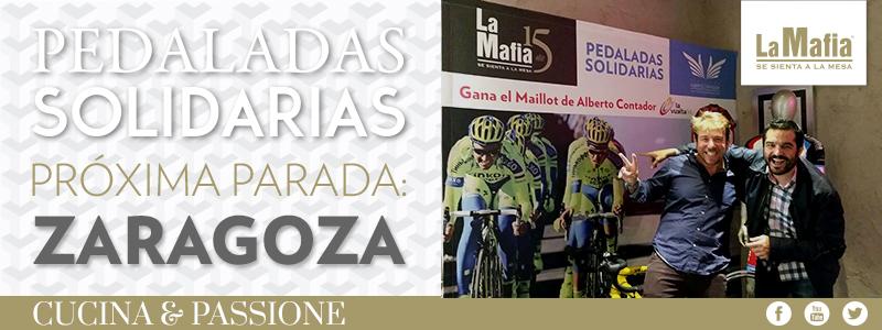 Blog La Mafia Pedaladas Zaragoza - Las primeras pedaladas solidarias