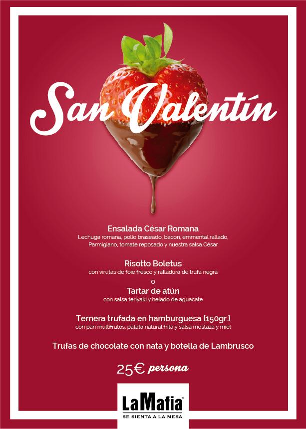 Menú San Valentín RRSS