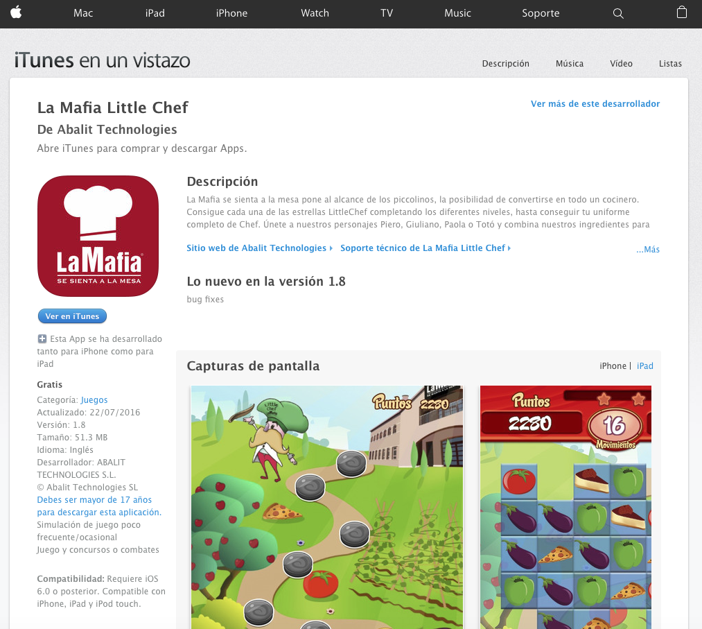 Captura de pantalla 2016 08 10 a las 14.06.38 - La Mafia Little Cheff llega a tu iPhone o iPad