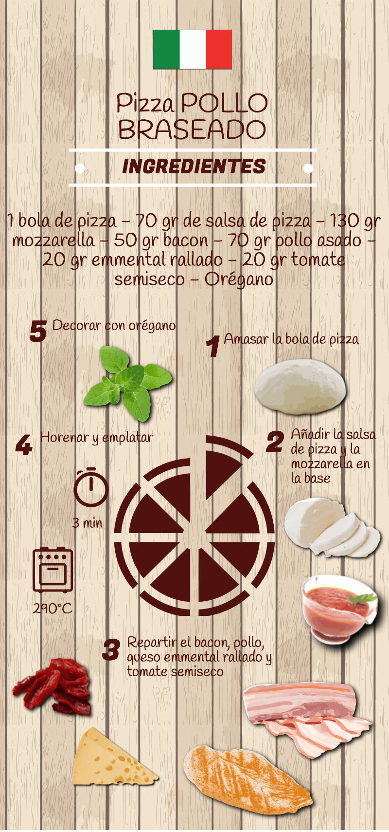 pollo braseado - Pizza Pollo Braseado