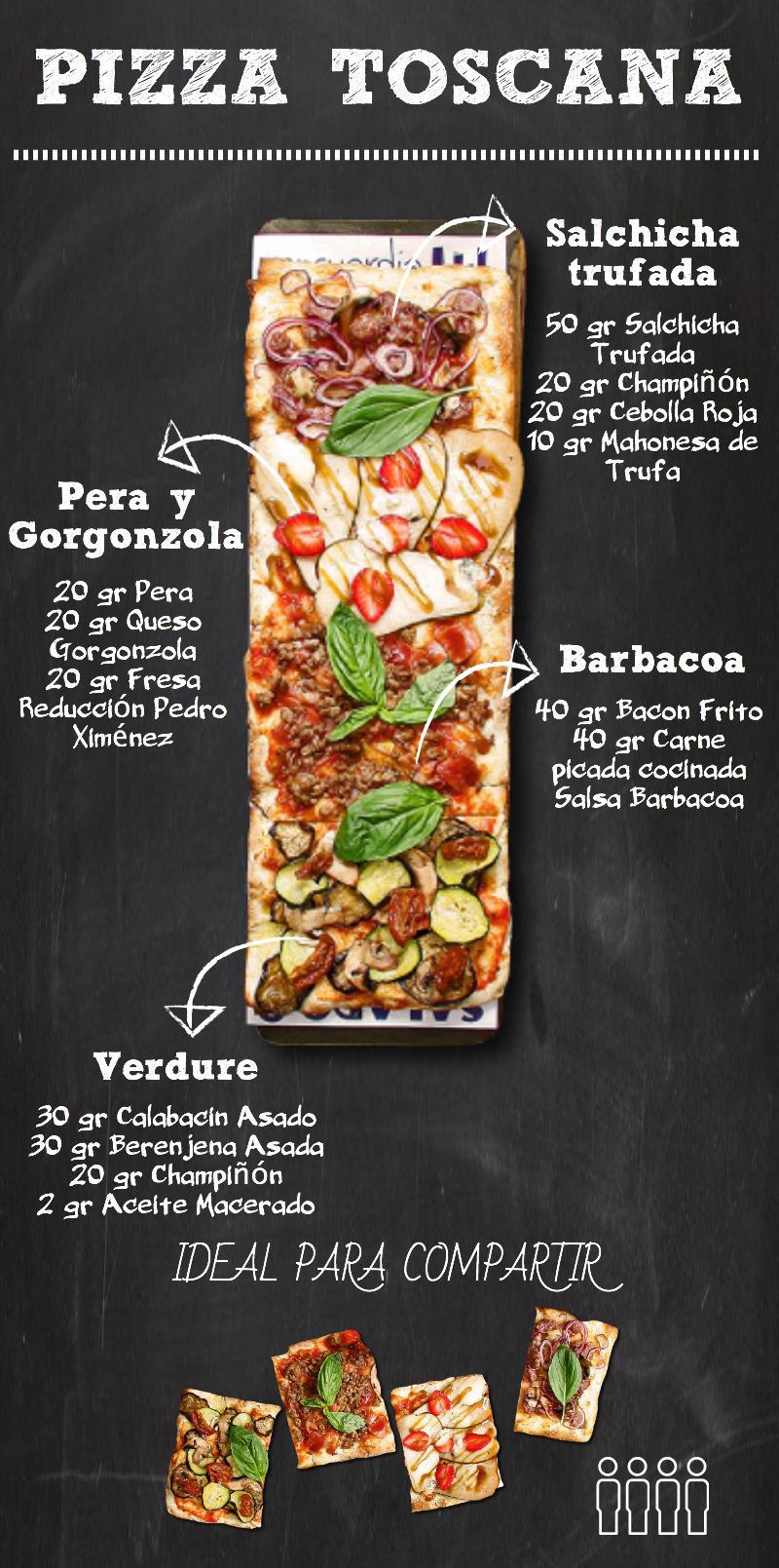 toscana 4 - Pizza Toscana de La Mafia se sienta a la mesa