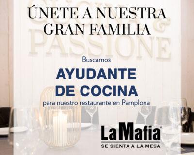 OfertaEmpleo AyudanteCocina LaMafiaPamplona 400x320 - PAMPLONA - Ayudante de cocina en 'La Mafia se sienta a la mesa'
