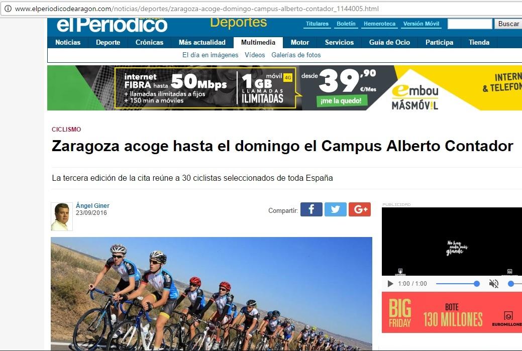el periodico contador - La Mafia se sienta a la mesa y la Fundación Alberto Contador en el Periódico de Aragón