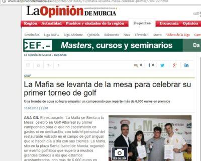 la opinion de murcia 400x320 - La Opinión de Murcia se hace eco de nuestro torneo de golf.
