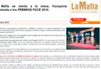 2016Octubre - 'La Mafia se sienta a la mesa', nominada a los premios FACE 2016
