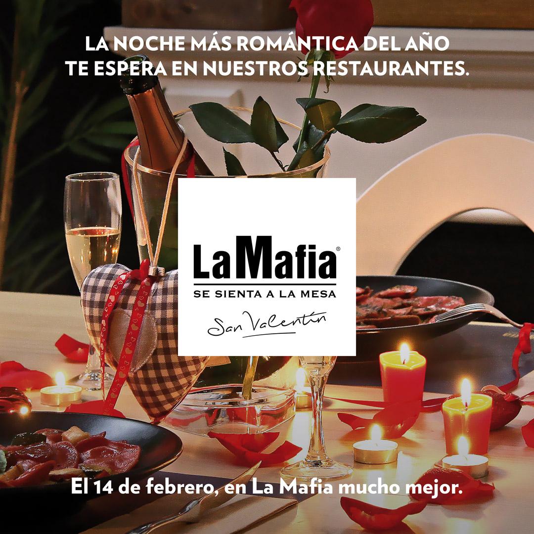 MAFIA INSTAGRAM VALENTIN - Celebra San Valentín con una cena romántica en La Mafia se sienta a la mesa