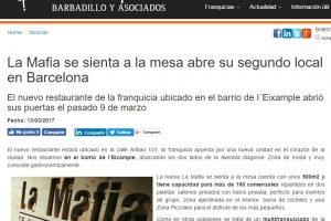 'La Mafia se sienta a la mesa' abre su segundo local en Barcelona