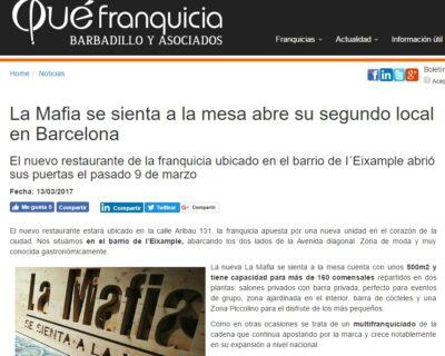 barcelona quefranquicia 400x320 - 'La Mafia se sienta a la mesa' abre su segundo local en Barcelona
