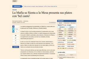 'La Mafia se sienta a la mesa' presenta sus platos con 'Bel Canto'