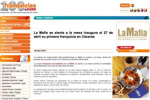 La Mafia se sienta a la Mesa inaugura el 27 de abril su primera franquicia en Cáceres