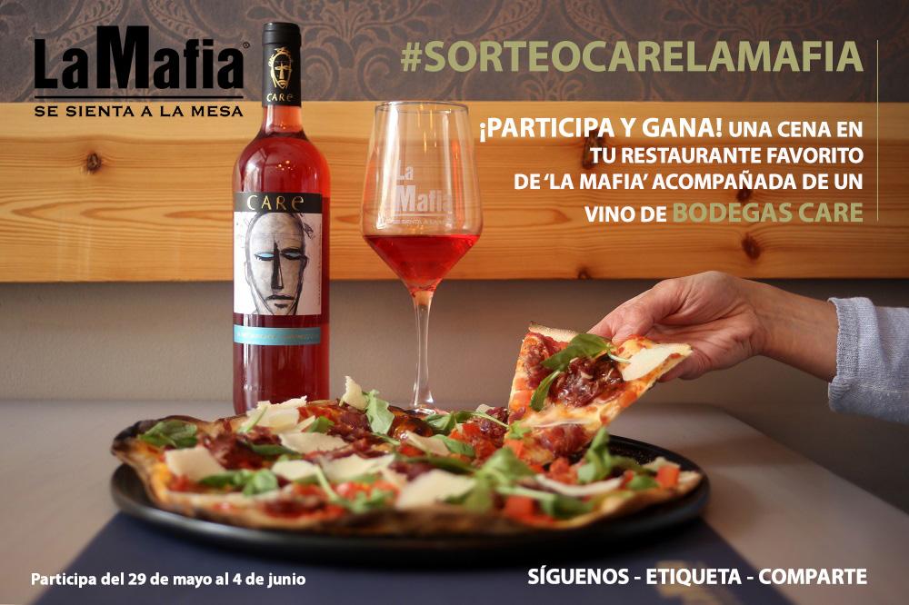 CREATIVIDAD sorteo care la mafia - ¡Participa y gana una cena en tu restaurante favorito de 'La Mafia' maridada con un vino de Bodegas Care!