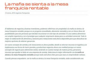 'La Mafia se sienta a la mesa', franquicia rentable