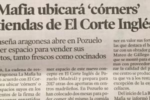 La Mafia ubicará 'corners' en tiendas del Corte Inglés