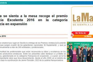'La Mafia se sienta a la mesa' recoge el premio Andalucía Excelente 2016