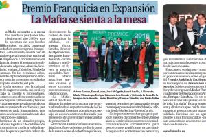 Premio Franquicia en Expansión 'La Mafia se sienta a la mesa'