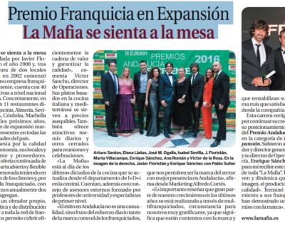 capture 20170512 123128 400x320 - Premio Franquicia en Expansión 'La Mafia se sienta a la mesa'