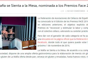 'La Mafia se sienta a la mesa', nominada a los premios FACE 2016