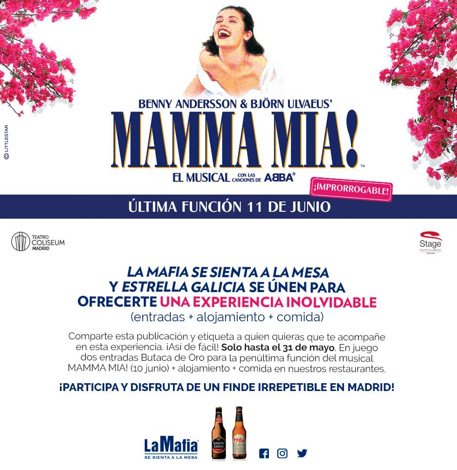 v2 10junio MammaMia LM - Disfruta de una experiencia inolvidable con La Mafia se sienta a la mesa y Estrella Galicia