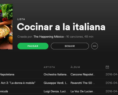 Cocinar a la italiana 400x320 - Cocinar a la italiana con una playlist de Spotify