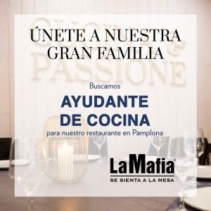OfertaEmpleo AyudanteCocina LaMafiaPamplona 300x300 - La Mafia se sienta a la mesa busca ayudantes de cocina en Palma