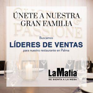 OfertaEmpleo LideresVentas LaMafiaPalma 300x300 - PALMA - Líderes de ventas en 'La Mafia se sienta a la mesa'
