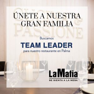 OfertaEmpleo TeamLeader LaMafiaPalma 1 300x300 - La Mafia se sienta a la mesa busca Team Leader en Palma