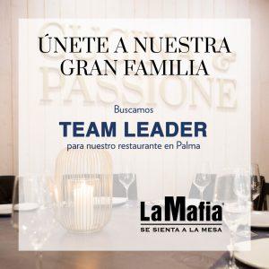 OfertaEmpleo TeamLeader LaMafiaPalma 300x300 - La Mafia se sienta a la mesa busca Team Leader en Palma
