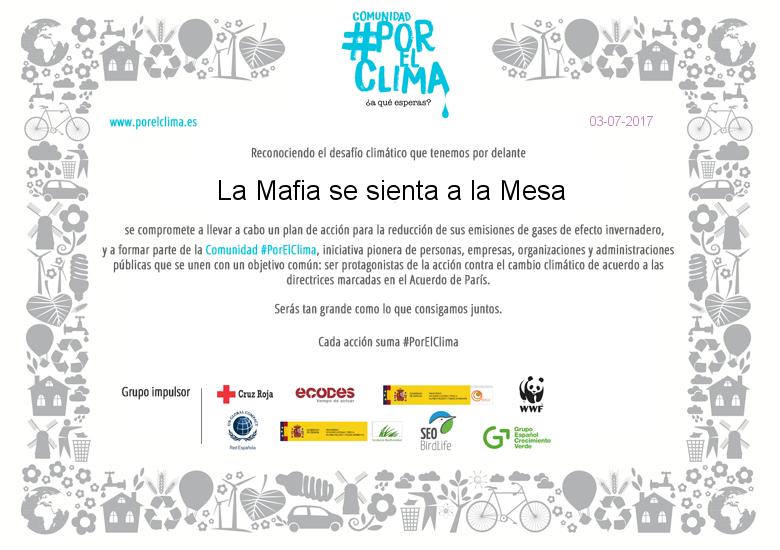 La Mafia se sienta a la mesa Porelclima - La Mafia se sienta a la mesa se une a la comunidad #PorElClima