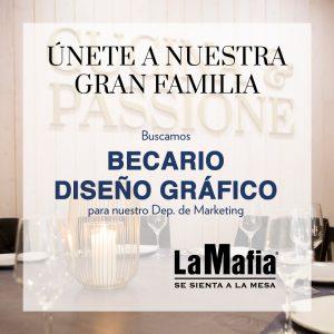 OfertaEmpleo BecarioDisenoGrafico LaMafiaDepMarketing 1 300x300 - ZARAGOZA - Becario de diseño gráfico para oficinas centrales de 'La Mafia se sienta a la mesa'
