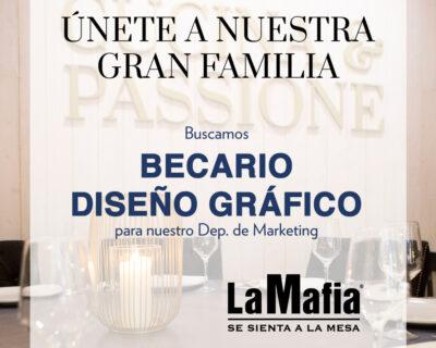 OfertaEmpleo BecarioDisenoGrafico LaMafiaDepMarketing 400x320 - ZARAGOZA - Becario de diseño gráfico para oficinas centrales de 'La Mafia se sienta a la mesa'