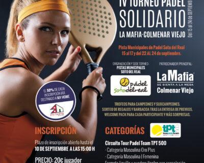 Mailing Torneo Padel Colmenar 2017 400x320 - La Mafia se sienta a la mesa Colmenar Viejo presenta su IV torneo solidario de Padel