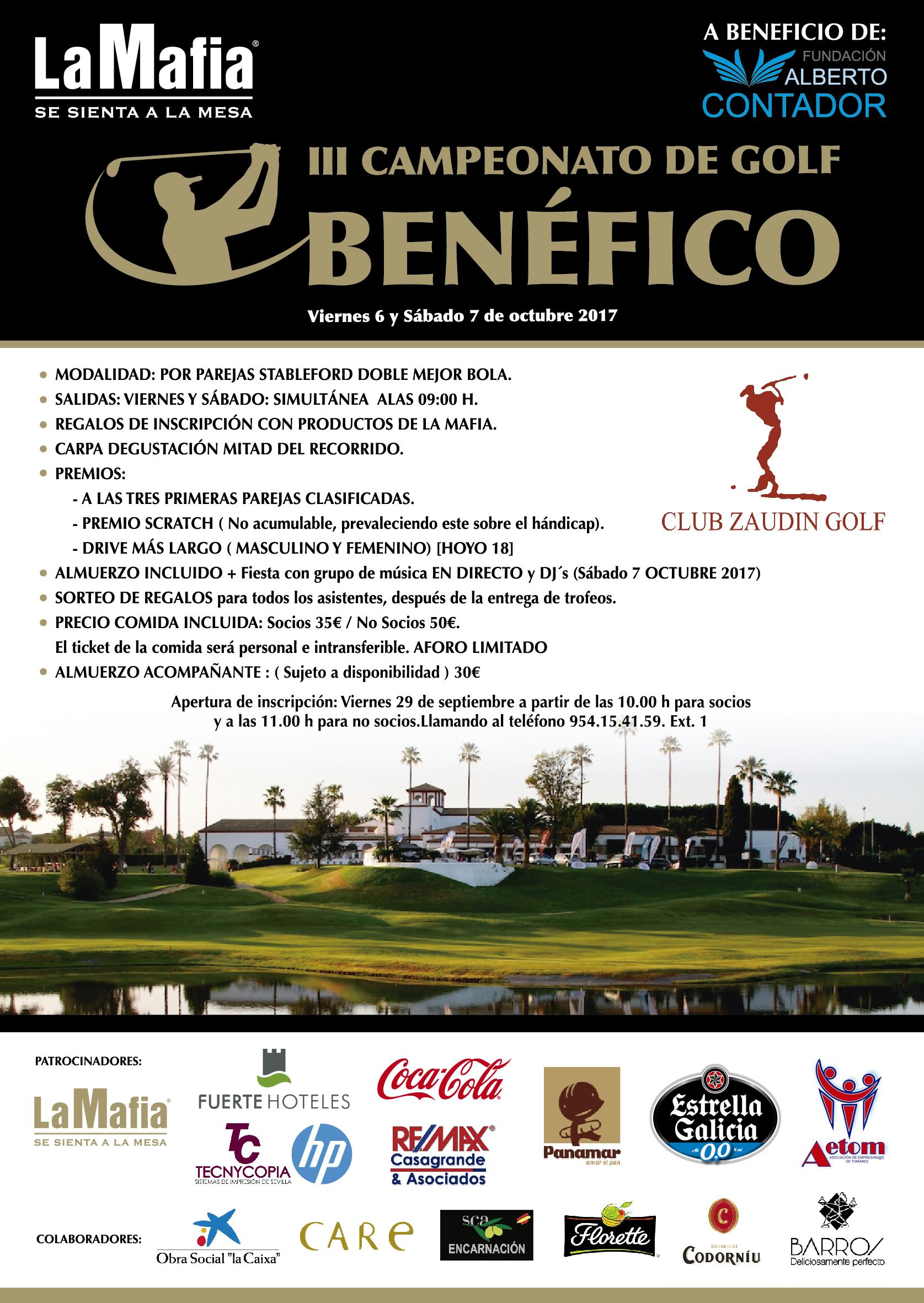 DinA1 Cartel Torneo Golf WEB - III Campeonato de Golf en beneficio de la Fundación Alberto Contador