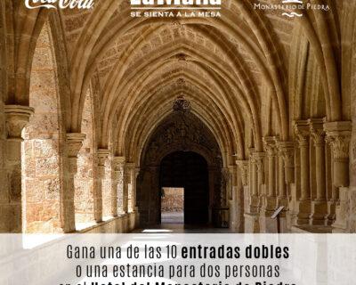 RRSS Sorteo Monasterio de Piedra V3 400x320 - La Mafia se sienta a la mesa y Coca-Cola te llevan a disfrutar del Monasterio de Piedra.