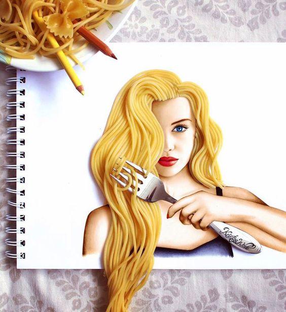 Arte con spaghettis 4 - Arte con spaghetti