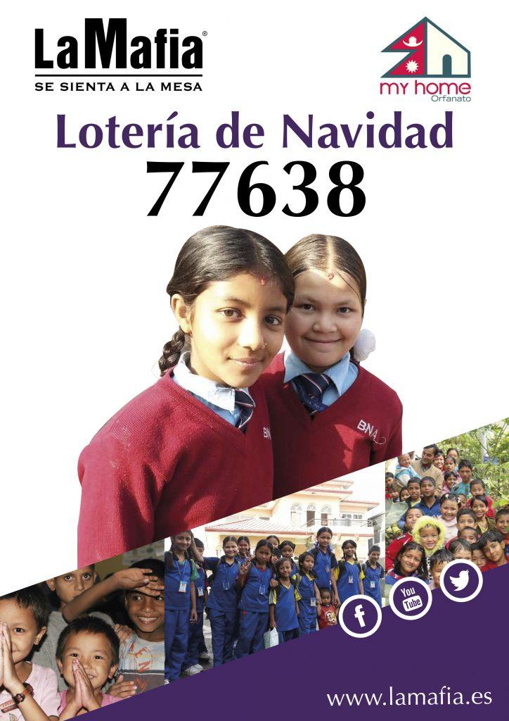 Cartel Lotería 2017 724x1024 - Lotería de Navidad para ayudar a los niños del orfanato My Home (Nepal)