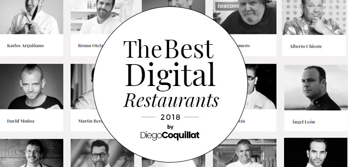 Los mejores chefs digitales 2018 - HOSPITALITY INNOVATION PLANET 2018