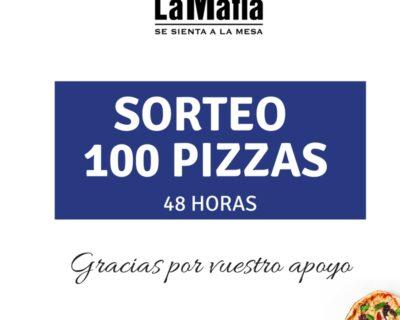 sorteo 100 pizzas 1 400x320 - Muchas gracias por vuestro cariño: ¡os lo agradecemos con 100 PIZZAS!