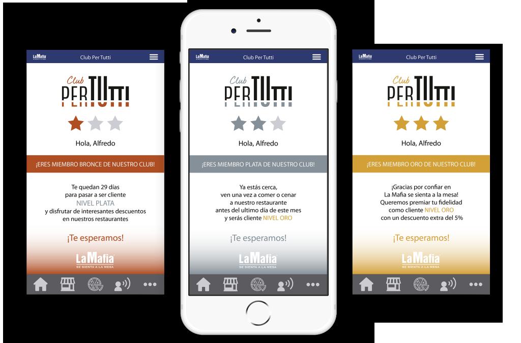 Club PerTutti: tres niveles para premiar a nuestros clientes más fieles