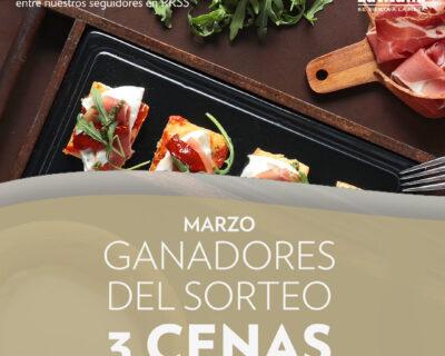 post Sorteo 3 Cenas INSTAGRAM 400x320 - Ganadores sorteo marzo de 3 almuerzos o cenas en La Mafia se sienta a la mesa