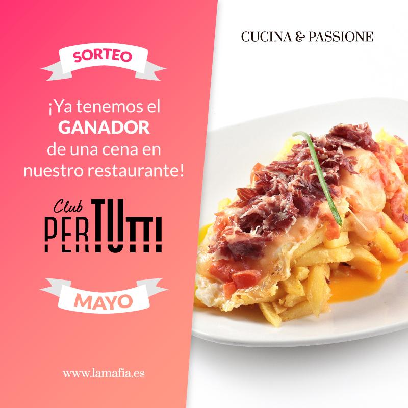 Sorteo PerTutti Cena sin MAYO - Pertutti. Ganador del sorteo de una cena